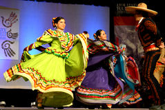 Mexican Dancers. At the Holiday Folk Fair International at the State Fair Park in Milwaukee, WI royalty free stock images