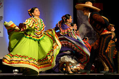 Mexican Dancers. Male and female Mexican Dancers at the Holiday Folk Fair International at the State Fair Park in Milwaukee, WI stock photography