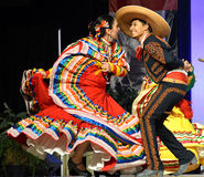 Mexican Dancers. A male and female pair of of Mexican dancers at the Holiday Folk Fair International at State Fair Park in Milwaukee, WI Royalty Free Stock Photos