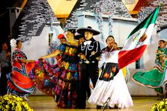 Mexican Dancers and singers. At the International Folklore Festival in Alberobello, Italy, in August, 2008 Royalty Free Stock Photo