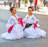 Mexican Dancers In Times Square Royalty Free Stock Photography