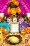 Mexican day of the dead altar (Dia de Muertos) Royalty Free Stock Image