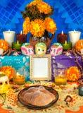Mexican day of the dead altar Dia de Muertos Stock Photography