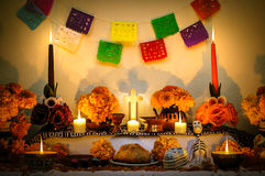Mexican day of the dead altar stock photos