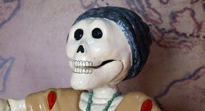Mexican day of the dead female skeleton head Royalty Free Stock Photo
