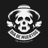 Mexican day of the dead monochrome illustration Royalty Free Stock Image