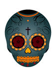 Mexican Day of the Dead Skull. A Mexican day of the dead skull decorated Stock Photos