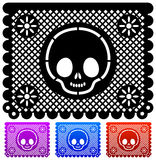 Mexican Day of the death decoration - vector stock illustration