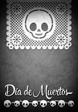 Mexican Day of the Death poster template Royalty Free Stock Images
