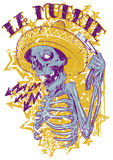 Mexican death. Vector illustration ideal for printing on apparel clothes Royalty Free Stock Photos