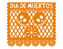 Mexican Decoration Paper Stock Photo