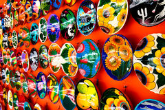 Mexican decoration plates Stock Photo