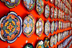Mexican decoration plates Stock Photos