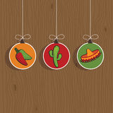 Mexican decorations royalty free illustration