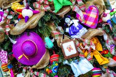Mexican decorations, bright spots Stock Images