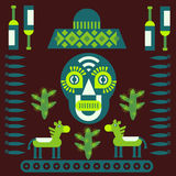 Mexican decorative vector elements Royalty Free Stock Images