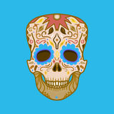 Mexican Detailed Skull Royalty Free Stock Photos