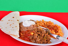 Mexican Dinner - Carne Guisada Stock Images