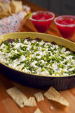 Mexican dip and chips Stock Images