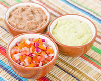 Mexican Dips & Side Dishes Stock Images