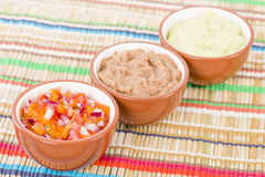 Mexican Dips & Side Dishes Royalty Free Stock Photography