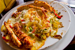 Mexican dish with chicken breast Royalty Free Stock Image