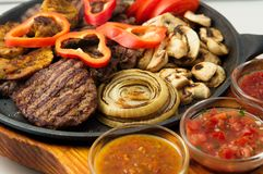 The mexican dishes mega grill pan Royalty Free Stock Photos