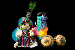 Mexican Doll and Toys Stock Photography
