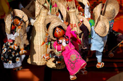 Mexican dolls. Cute mexican dolls shallow depth of field Stock Images