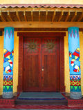 Mexican doors. Mexican styled pillars and doors Royalty Free Stock Photos