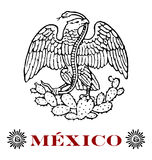 Mexican eagle Stock Photography