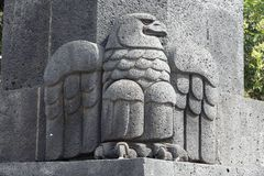 Mexican Eagle at the Revolution Monument Royalty Free Stock Photography