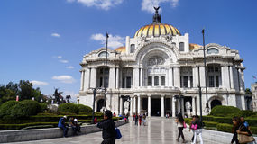 Mexican eighteen century building beautiful arts building Royalty Free Stock Image
