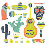 Mexican Elements royalty free illustration