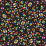 Mexican Embroidery Seamless Pattern Royalty Free Stock Photos