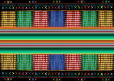 Mexican ethnic embroidery Tribal art ethnic pattern. Colorful Mexican Blanket Stripes Folk abstract geometric repeating background stock image