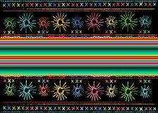 Mexican ethnic embroidery Tribal art ethnic pattern. Colorful Mexican Blanket Stripes Folk abstract geometric repeating background royalty free stock images