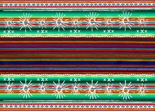 Mexican ethnic embroidery Tribal art ethnic pattern. Colorful Mexican Blanket Stripes Folk abstract geometric repeating background stock illustration