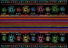 Mexican ethnic embroidery Tribal art ethnic pattern. Colorful Mexican Blanket Stripes Folk abstract geometric repeating background vector illustration