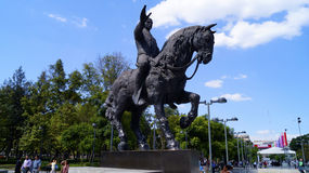 Mexican ex president madero riding horse sculpture Stock Image