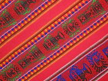 Mexican fabric silk shawl texture, pattern,. Colorful weave silk shawl. different zigzag colors background. closeup pattern texture, new fabric diversity concept Stock Photography