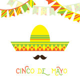 Mexican face with large mustache royalty free illustration