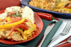 Mexican fajitas Royalty Free Stock Images