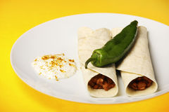 Mexican fajitas with dip Stock Images