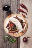 Mexican fajitas in tortilla wrap Stock Photography