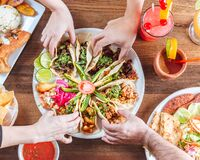 Free Mexican Family Taco Plater Royalty Free Stock Photo - 177275205