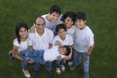 Mexican Family. Top view of a Mexican family with the youngest member in arms Stock Photo