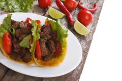 Mexican fast food: tacos Stock Photo