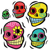Mexican Festive Skulls Royalty Free Stock Image