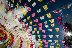 Mexican festons stock image